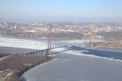 Более 260 тысяч кубометров бетона уложено в конструкции моста на остров Русский