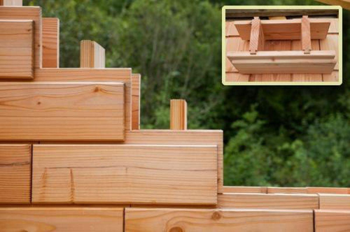 Деревянные полые блоки - технология в строительстве