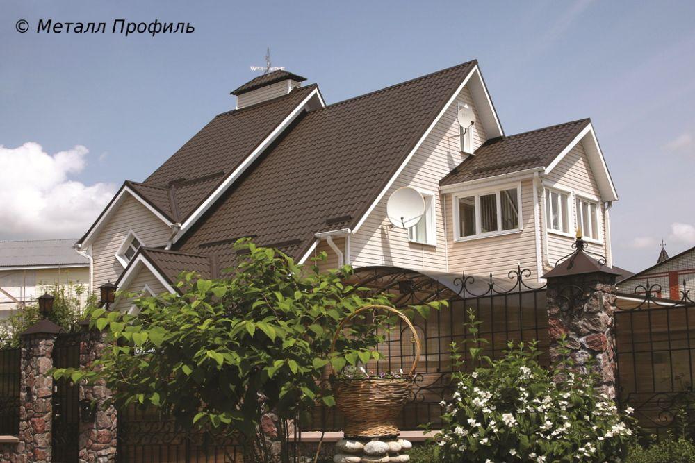 Цвет дома и крыши фото